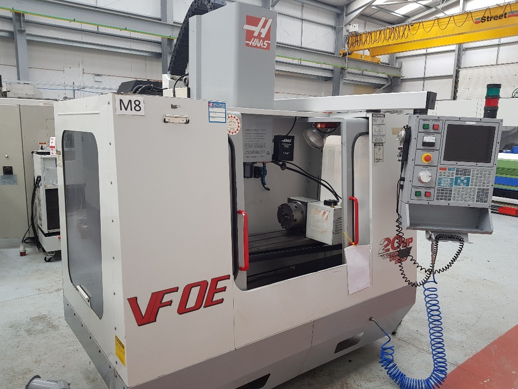 HAAS VFOE 2HP CNC machine with Vector Dual Drive.